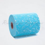 Sky Blue Sequin Heart Tulle Roll